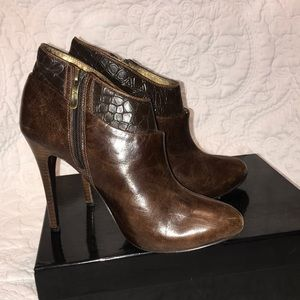 Marciano Brown ankle boot heels